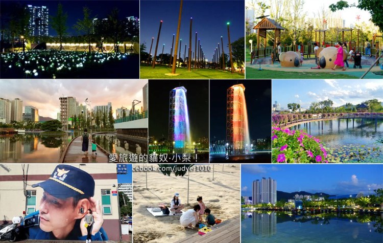釜山市民公園\親子公園、夜景燈飾、音樂噴泉、櫻花步道,這裡通通都有!