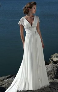 Chiffon Empire Waist Wedding Dress » Bride Wardrobe | Beautiful ...