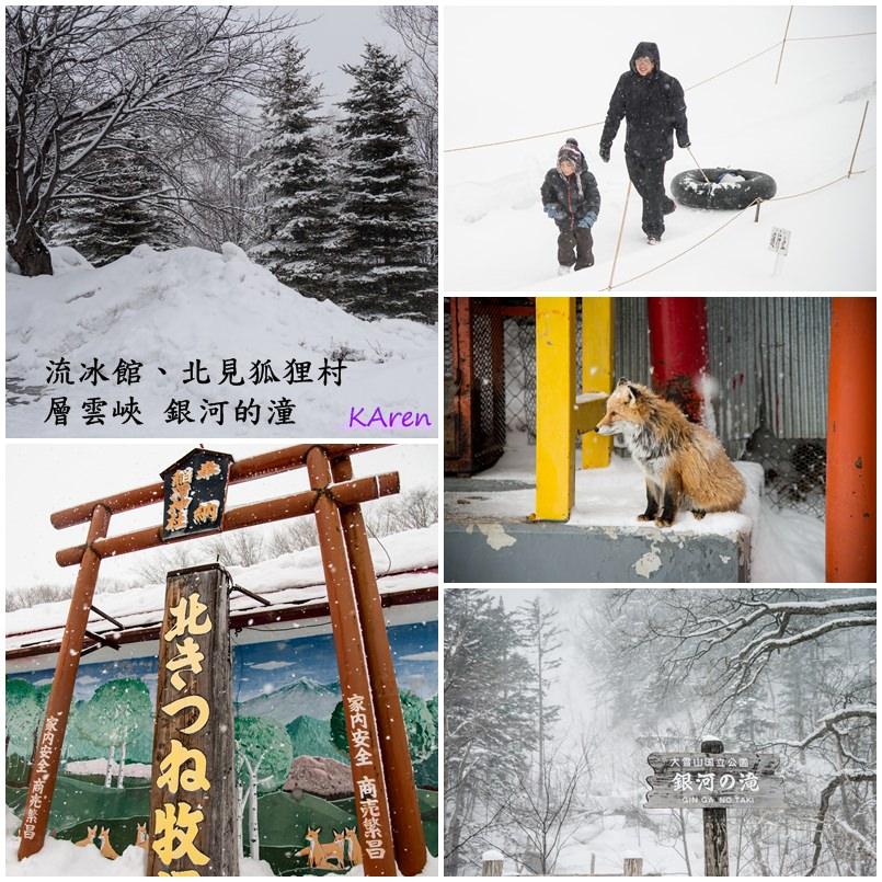 [日本。北海道] 流冰館,北見狐貍村,層雲峽 銀河的潼 - 凱倫的拿鐵人蔘