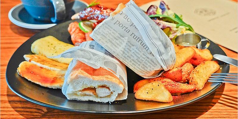 台中早午餐 | AIYO Cafe(東區)-老宅改建、文青風格,還有網美牆哦!勇士早餐好澎派,來上一餐讓人元氣滿滿又飽飽。