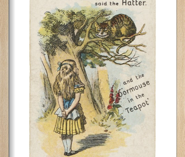 Alice And The Cheshire Cat Art Print By Sir John Tenniel King