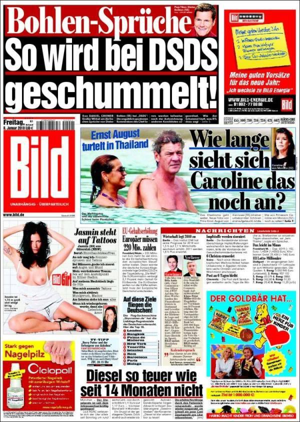 Newspaper Bild Germany Newspapers in Germany Fridays