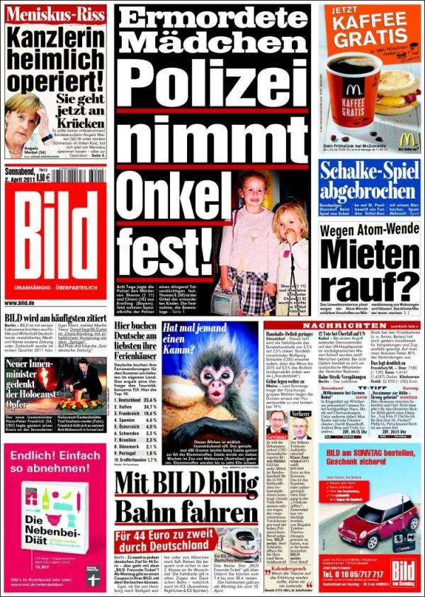 Newspaper Bild Germany Newspapers in Germany Saturday