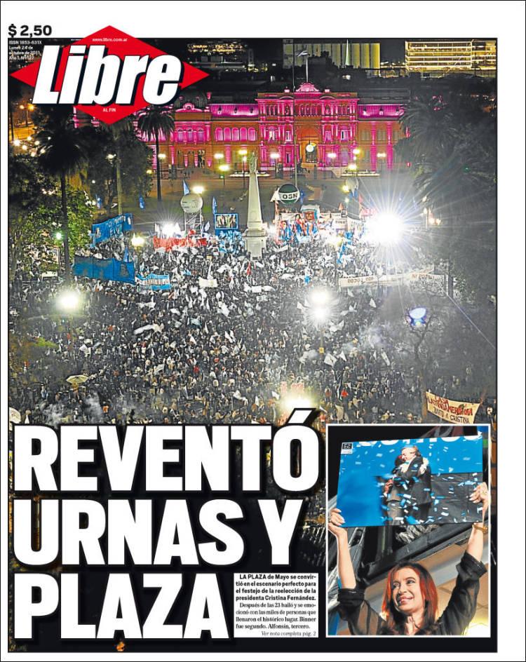 Portada de Libre (Argentina)