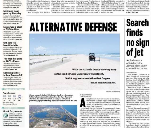 Portada De Tampa Bay Times Usa
