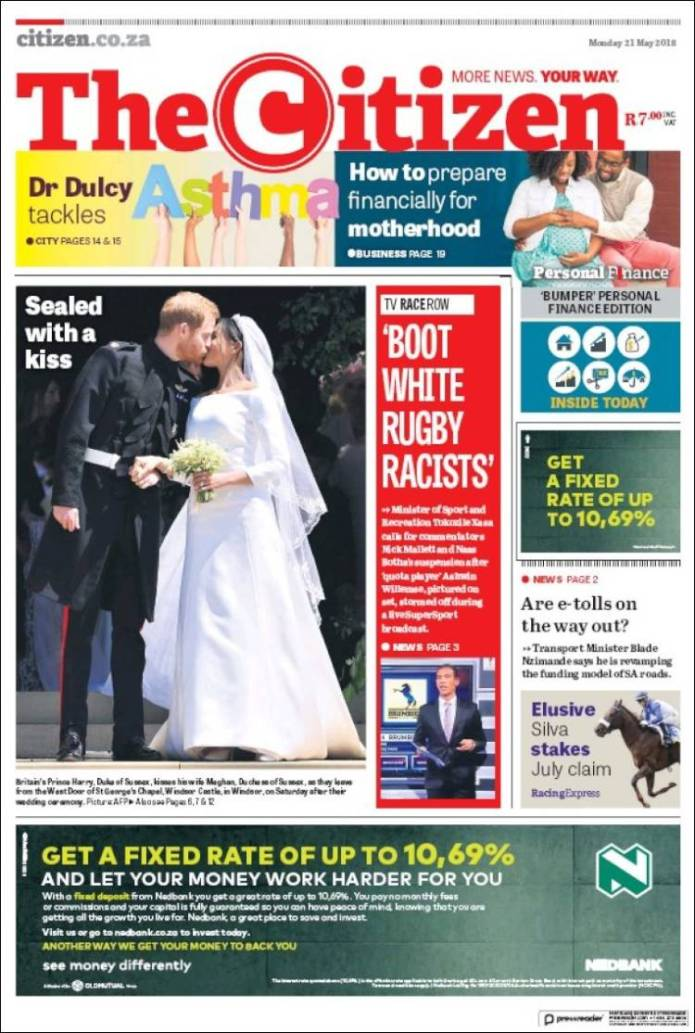 Portada de The Citizen (South Africa)
