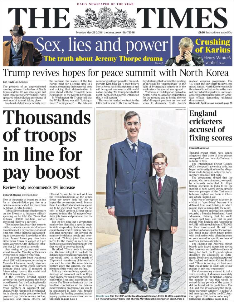 Portada de The Times (United Kingdom)
