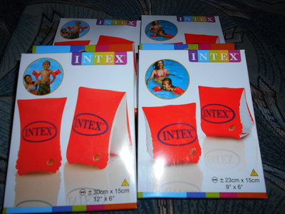 Нарукавники детские 2 камеры размеры 3-6лет 6-12лет Интекс ...