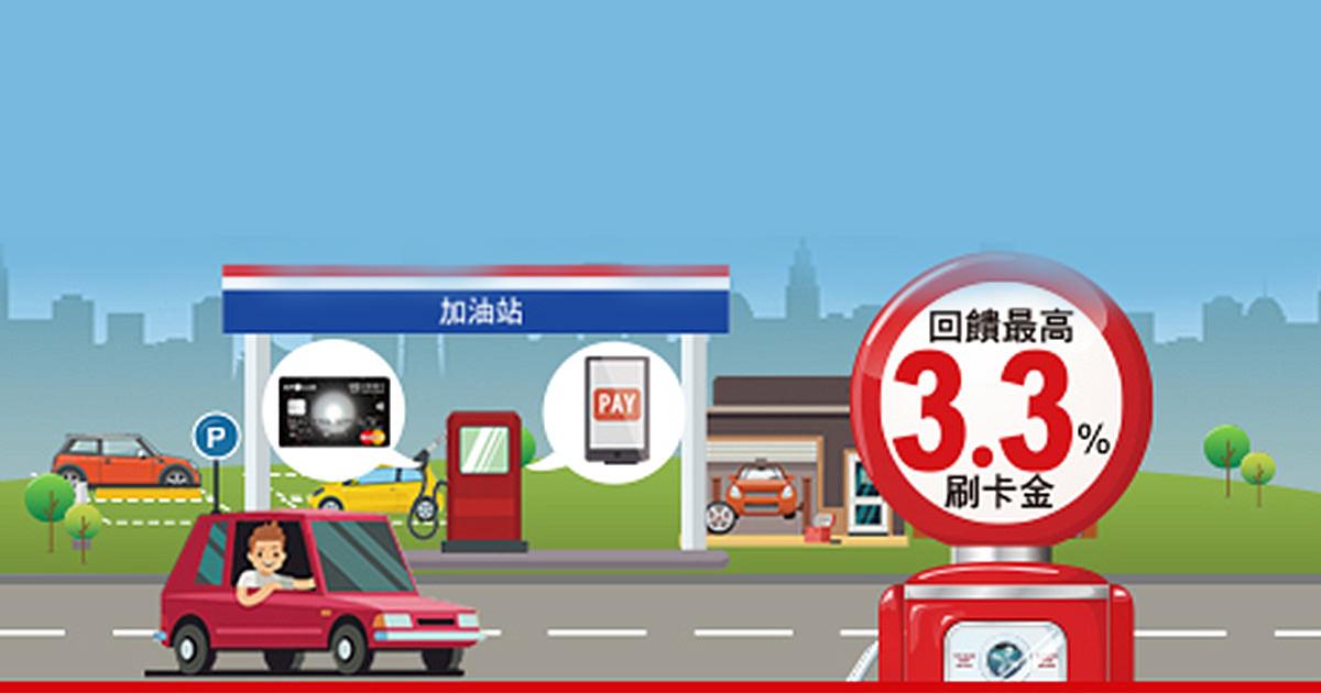 中油直營、台亞、台糖加油站 最高享3.3%刷卡金回饋