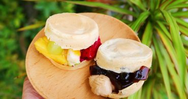 【嘉義東區】嘉義3分甜紅豆餅~超級有創意冰冰涼涼新鮮卡士達水果紅豆餅,每一顆都爆料,排隊也要吃!