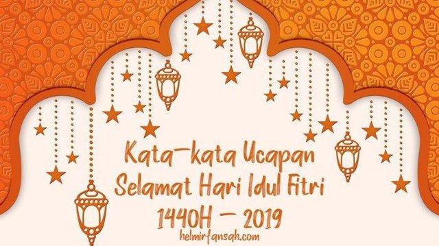 Ucapan Hari Raya Idul Fitri 1440 H Pakai Bahasa Jawa Langsung