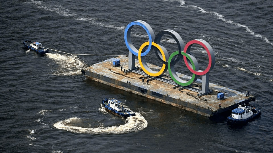 Olympic ring monument in Tokyo Bay removed due to safety inspection