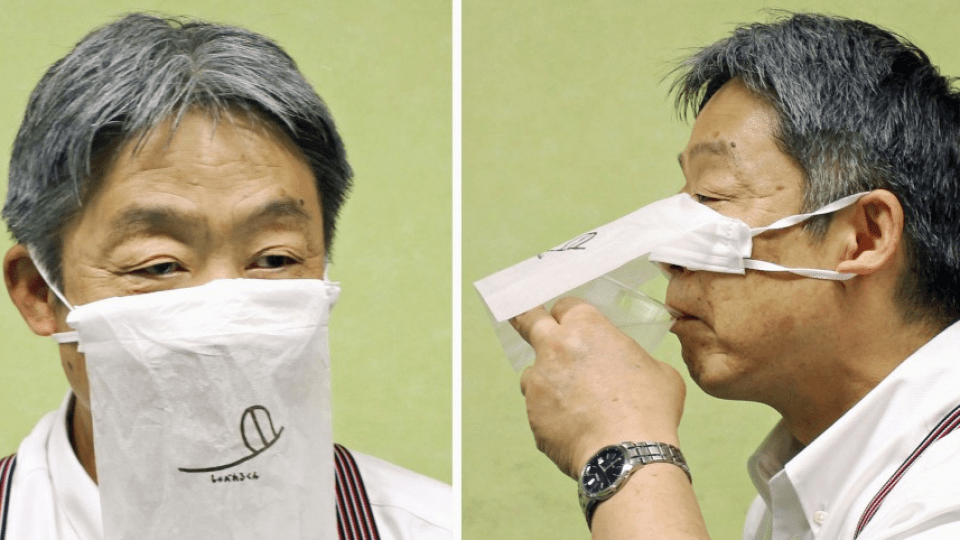 "Saizeriya Restaurant in Japan ""Develops"" Face Mask to Wear When Eating"