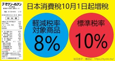 一次搞懂日本消費稅|10月增稅基準+輕減税率對象品目