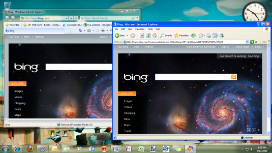 IE6 and IE8 running with XP Mode