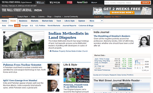 Wall Street Journal Online (India)