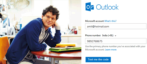 Sign-in Code for Outlook
