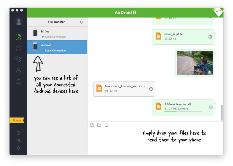 AirDroid for Windows and Mac