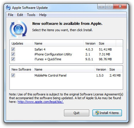 apple software installer