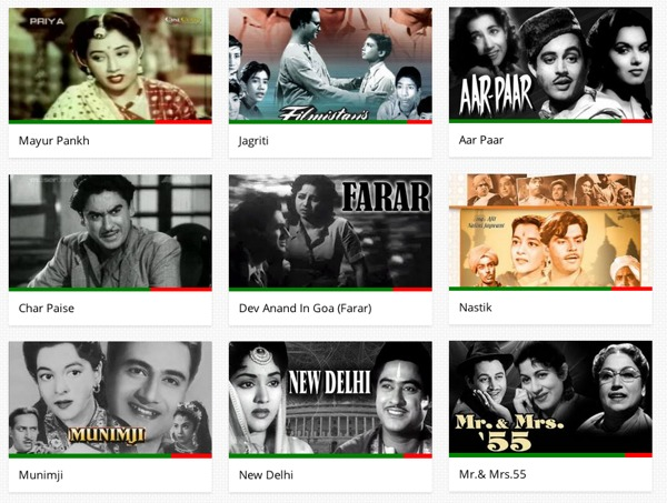Switch to Hindi in the dropdown and find bollywood movies that are free on YouTube