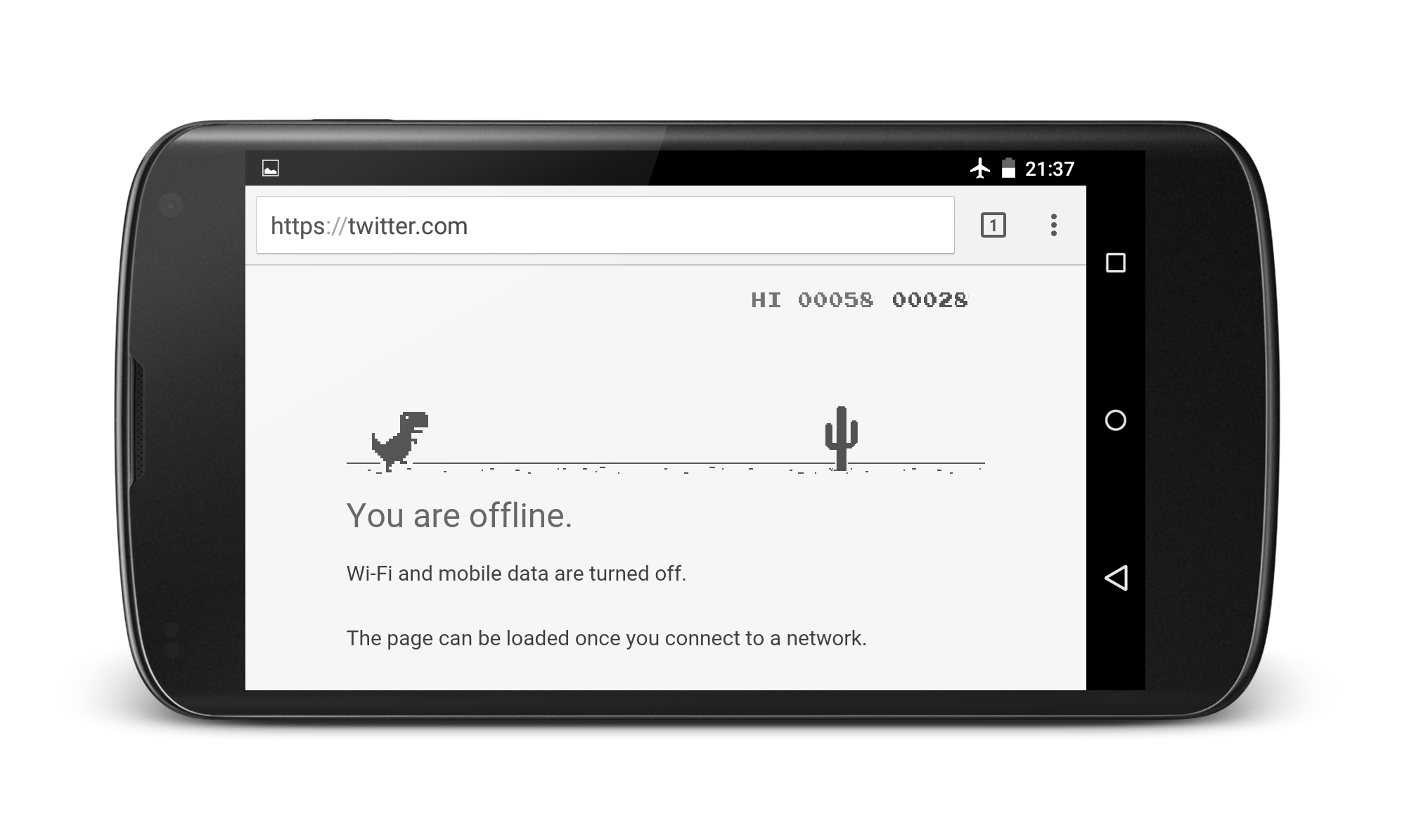 Chrome Game in Android