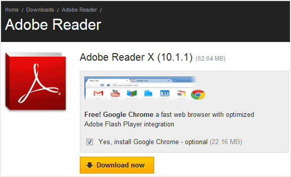 Google Chrome with Adobe Reader