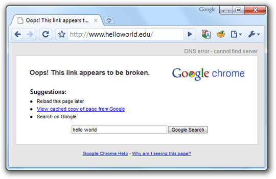Web Pages Not Opening in Google Chrome due to DNS Errors - Fix