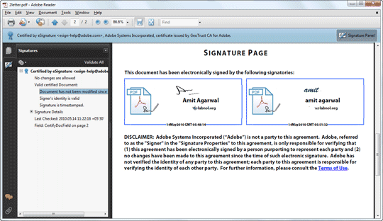 PDF with Digital Signatures