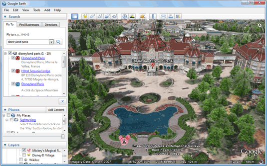 explore disneyland on google earth