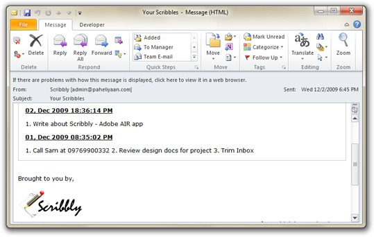 email yourself notes