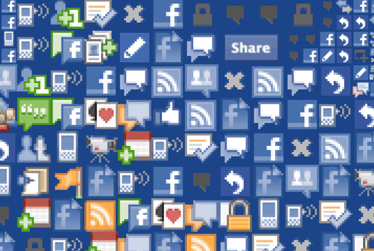 Facebook Icons - Close-up