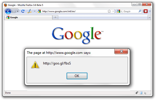google bookmarklet