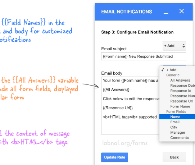 Google Form Email Notifications Png