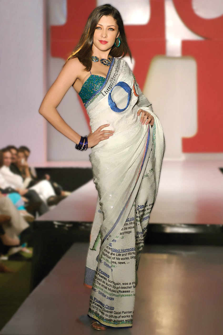 Google Sari by Satya Paul