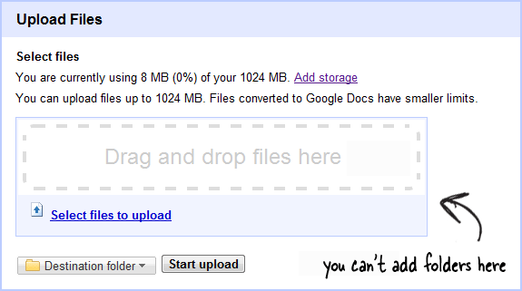 google docs upload via browser