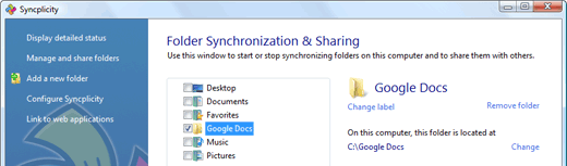 google docs local folder