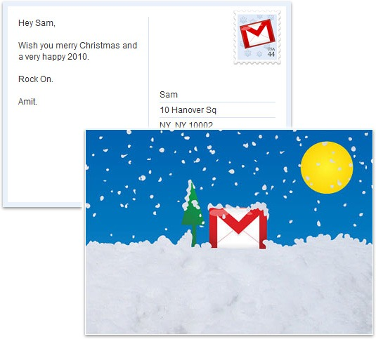 holiday card from google