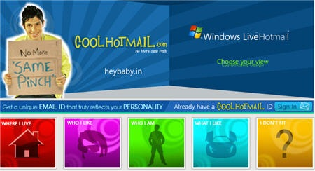 personal hotmail india