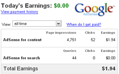 google adsense earnings