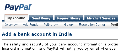 Withdraw PayPal Money Directly to A Bank Account in India