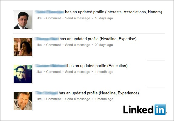 How to Secretly Update your LinkedIn Profile