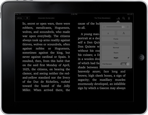 iBooks Night Theme