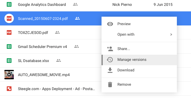 Replace Files in Google Drive