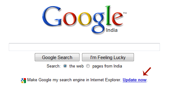 set google as homepage