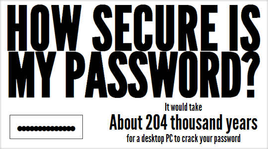 how strong password