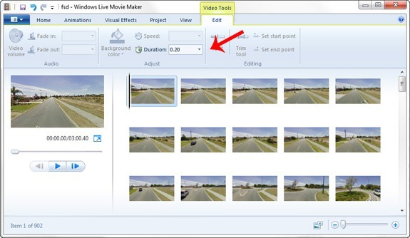 time lapse video settings