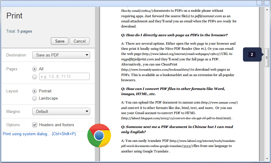 save web page as PDF