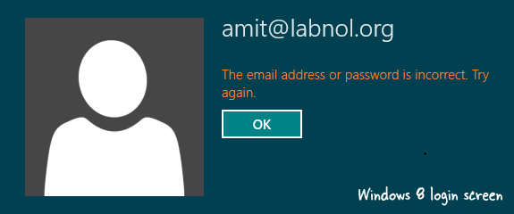 window 8 login screen