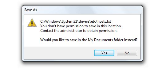 How to Edit Hosts and other Windows Files That Require