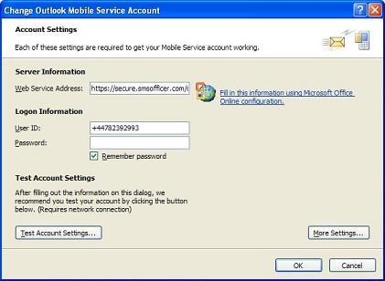 outlook free sms